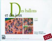 Des ballons et des jeux - Couverture - Format classique