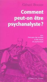Comment Peut On Etre Psychanalyste - Intérieur - Format classique