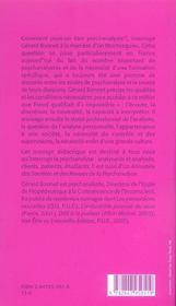 Comment peut on etre psychanalyste - 4ème de couverture - Format classique