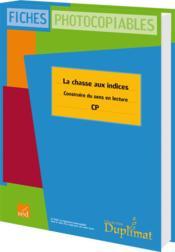 Duplimat ; Cp ; La Chasse Aux Indices - Couverture - Format classique