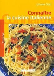 Cuisine italienne (la)/connaitre - Intérieur - Format classique