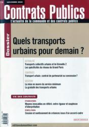 Revue Actualite Commande Contrats Publics N.104 ; Quels Transports Urbains Pour Demain ? - Couverture - Format classique