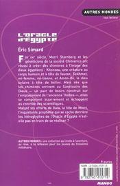 L'Oracle D'Egypte - 4ème de couverture - Format classique