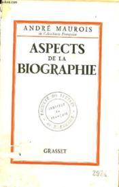 Aspects De La Biographie. - Couverture - Format classique