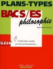 Plan Types Terminale Philosophie S Et Es - Couverture - Format classique