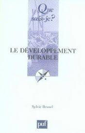 Le développement durable (2e édition) - Intérieur - Format classique