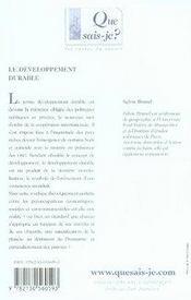 Le développement durable (2e édition) - 4ème de couverture - Format classique