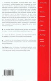 Sociologie de la litterature - Couverture - Format classique