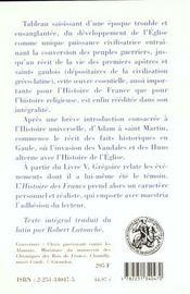 Histoire des francs (integrale) - 4ème de couverture - Format classique