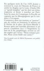 Jeanne D'Arc T.2 ; La Couronne De Feu - 4ème de couverture - Format classique