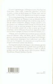 Alterites De L Europe - 4ème de couverture - Format classique
