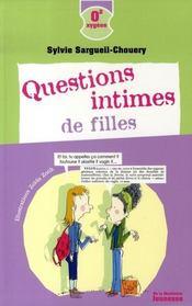 Questions intimes de filles - Intérieur - Format classique