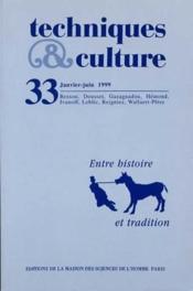Revue Techniques Et Cultures N.33 ; Entre Histoire Et Tradition - Couverture - Format classique