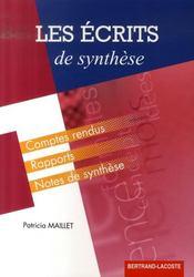 Les écrits de synthèse ; BTS assistant toutes spécialités ; formation continue ; manuel de l'élève - Intérieur - Format classique