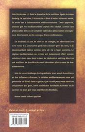 Les bienfaits de l'alimentation mediterraneenne et cretoise - 4ème de couverture - Format classique