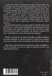 Piege de la botaniste - 4ème de couverture - Format classique