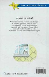 Je Veux Un Chien ! - 4ème de couverture - Format classique