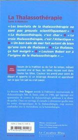 La thalassothérapie - 4ème de couverture - Format classique
