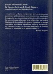 Dernier heritier de castle connor (le) - 4ème de couverture - Format classique