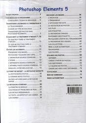 Competence Micro ; Photoshop Elements 5.0 - 4ème de couverture - Format classique