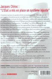 La France et ses tirailleurs ; enquête sur les combattants de la République - 4ème de couverture - Format classique