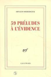 59 préludes à l'évidence - Couverture - Format classique