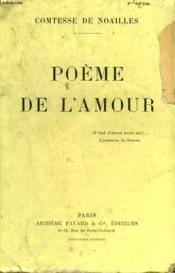 Poeme De L'Amour. - Couverture - Format classique