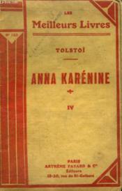 Anna Karenine. Tome 4. Collection : Les Meilleurs Livres N° 153. - Couverture - Format classique