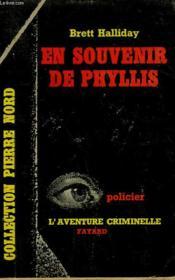 En Souvenir De Phyllis. Collection L'Aventure Criminelle N° 38 - Couverture - Format classique