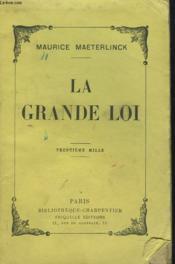 La Grande Loi - Couverture - Format classique