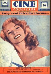 Cine Coulisses N°16 - Deuxieme Annee - Suzy Veut Faire Du Cinema ... - Couverture - Format classique