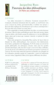 Panorama Des Idees Philosophiques - 4ème de couverture - Format classique