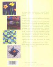 Patchwork fleuri - 4ème de couverture - Format classique