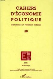 Cahiers d'économie politique N.38 - Couverture - Format classique