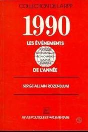 1990 evenements de l'annee (les) - Couverture - Format classique