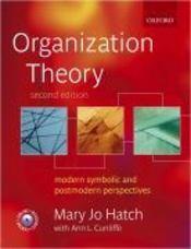 Organization theory (2e édition) - Couverture - Format classique