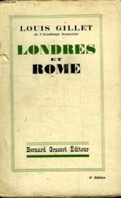 Londres Et Rome. - Couverture - Format classique