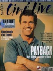 CINE LIVE - N° 22 - PAYBACK, Mel Gibson contre-attack ! - Couverture - Format classique