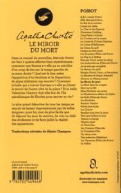 Le miroir du mort - 4ème de couverture - Format classique
