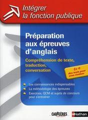 Préparation aux épreuves d'anglais (édition 2006) - Intérieur - Format classique