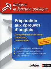 Préparation aux épreuves d'anglais (édition 2006) - Couverture - Format classique