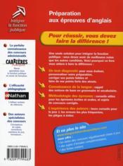 Préparation aux épreuves d'anglais (édition 2006) - 4ème de couverture - Format classique