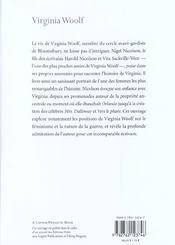 Virginia woolf - 4ème de couverture - Format classique