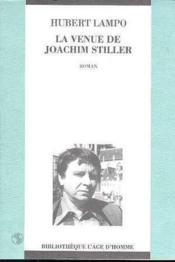 La Venue De Joachim Stiller - Couverture - Format classique