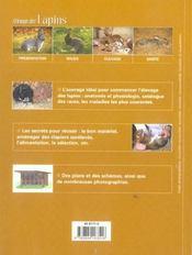 Elevage du lapin - 4ème de couverture - Format classique