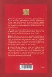 La Dietetique Alimentaire Ayurvedique - 4ème de couverture - Format classique