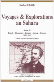 Voyages Et Explorations Au Sahara. Tome 2 (1865-1867) - Couverture - Format classique