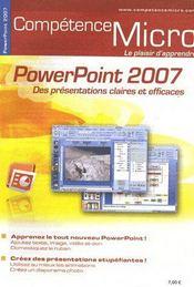 Competence Micro ; Powerpoint 2007 - Intérieur - Format classique