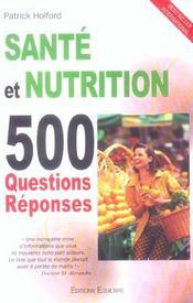 Santé et nutrition ; 500 questions réponses - Intérieur - Format classique