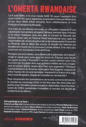 Silence sur un attentat, le scandale du genocide rwandais - 4ème de couverture - Format classique